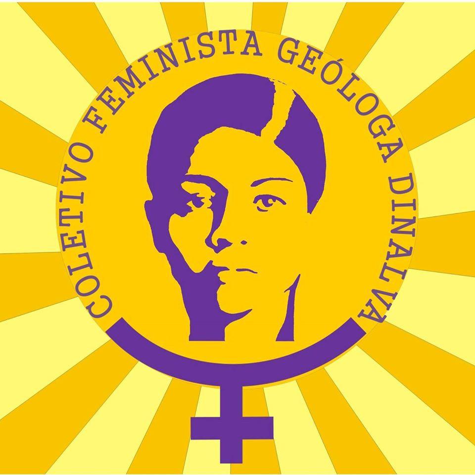 Logo do Coletivo Feminista Geóloga Dinalva